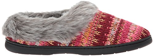 Dearfoams womens Pattern Knit Clog with Lurex Pattern Knit Clog With Lurex Cabernet 6bP6EDddi