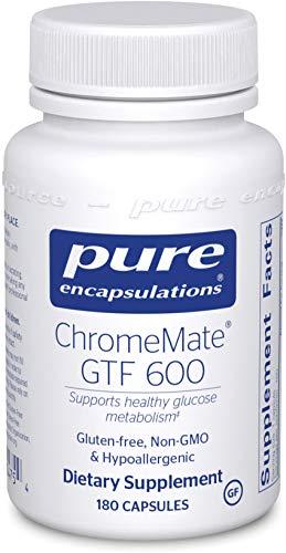 Pure Encapsulations - ChromeMate GTF 600 - Unique Chromium Polynicotinate Supplement - 180 Capsules