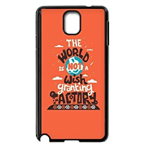 Samsung Galaxy Note 3 Cell Phone Case Black_quotes world is not wish granting factory Urrsz