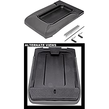 APDTY 035922 Center Console Compartment Lid / Leather Armrest Replacement Kit - Dark Gray / Pewter Color For 2001-2006 Escalade, Avalanche, Silverado, Sierra, Suburban, Tahoe, Yukon (Replaces 19127364)