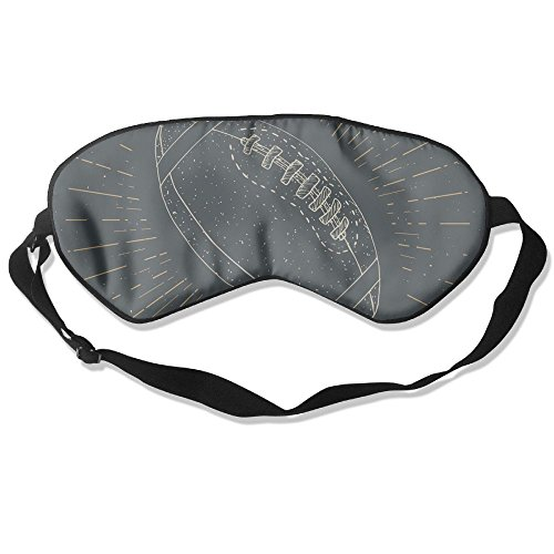 Sleep Mask Football Rugby Ball Vintage Label Hand Drawn Unisex Head Strap Eyeshade -