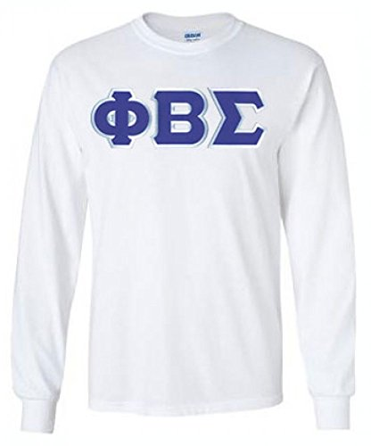 Express Design Group Phi Beta Sigma Lettered Long Sleeve Large White