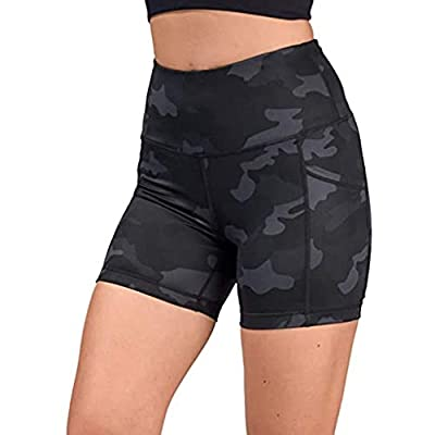 KANGMOON High Waist Out Pocket Yoga Short Tummy Control Workout Running Athletic Non See-Through Yoga Shorts: Clothing