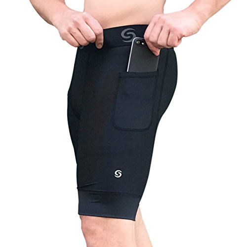 db6de4f949102f Amazon.com: Sport-it Men's Compression Workout Shorts with Pockets for  Phone - Base Layer Tights, Short Leggings: Clothing