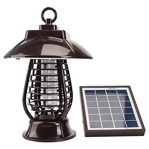 Hanbao Solar Interior L/ámpara Anti Mosquitos Electrico UV L/ámpara Trampa Bug Zapper Port/átil Exterior Mosquito Repelente 2 en 1 Noche L/ámpara LED Insecticida