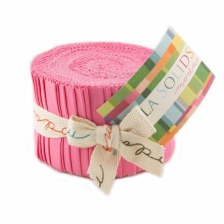 Moda Bella Solids Pink Junior Jelly Roll 20- 2.5`` Strips supplier:susanegreen by instrainclug