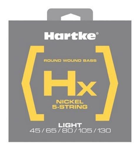 Hartke HSBHX545 Hx Nickel Bass Guitar 5-String Set, Light, 45-130
