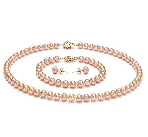Rose 6-7mm AAA-qualité perles d'eau douce -un set en perles