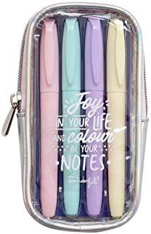 Mr. Wonderful Highlighter Set to Make Your Notes Shine, Multicolor, Talla única: Amazon.es: Hogar