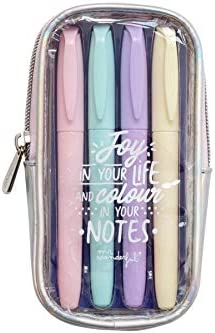 Mr. Wonderful Highlighter Set to Make Your Notes Shine, Multicolor, Talla única