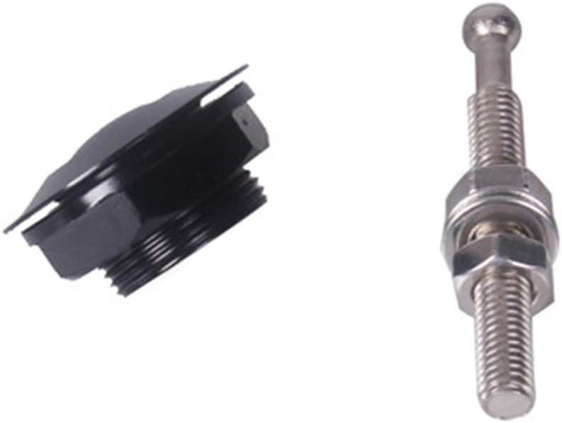 Linxueyi 2pcs Universal Push Button Quick Release Hood Pins Bonnet Lock Clip Latch Bumper-Black