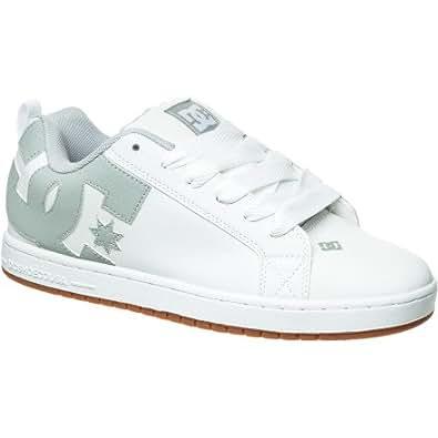 DC Court Graffik Skate Shoe - Men's White/Grey, 8.0