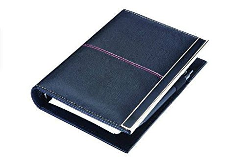 COI LEATHERITE BLACK EXECUTIVE ORGANISER / PLANNER WITH PEN