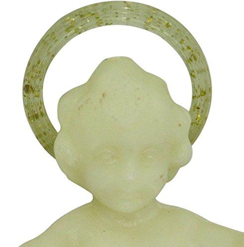 5 cm circa confezione da 50 pezzi Ges/ù Bambino in plastica fosforescente