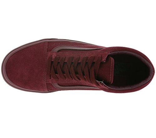 Skool Mono Old Royale Vans Red Port 4THHqx