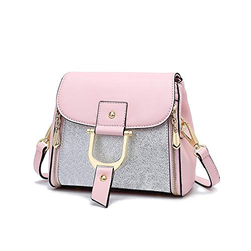 Portable Business Locomotive Lady Color Handbag Bag Pink FangYOU1314 Large Capacity Pink Shoulder Slung qEC1xCpw