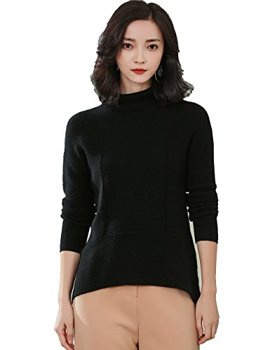 ashmere Turtleneck Cashmere Sweater 18US7245(M,black) (Cashmere Petite Turtleneck)