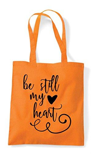 My Tote Bag Shopper Statement Still Be Romantic Orange Heart 4X55fY