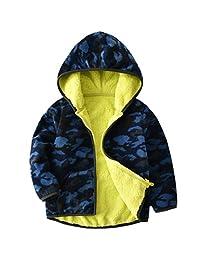 Boys Polar Fleece Jackets Hoodie Jackets Reversible Coats Spring Outerwear