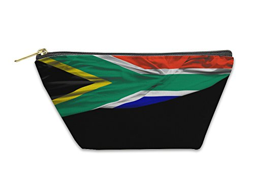 Gear New Accessory Zipper Pouch, South Africa Waving Flag On Black, Small, 5912587GN by Gear New