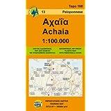 Achaia: Touring Map, Greece