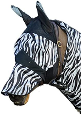 William Hunter Equestrian Zebra Design Fly Mask - Made from Strong fine Mesh - Available in Pony or Cob