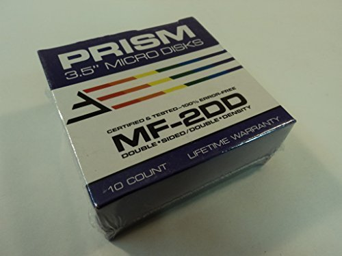 Prism MF-2DD 3.5 Inch Micro Disks 10 Count Double Sided Double Density 91051