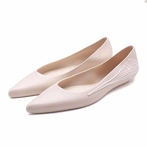 Black Fashion rain Boots Ladies Low to Help Super Soft Flat Sole Shoes Rubber Shoes