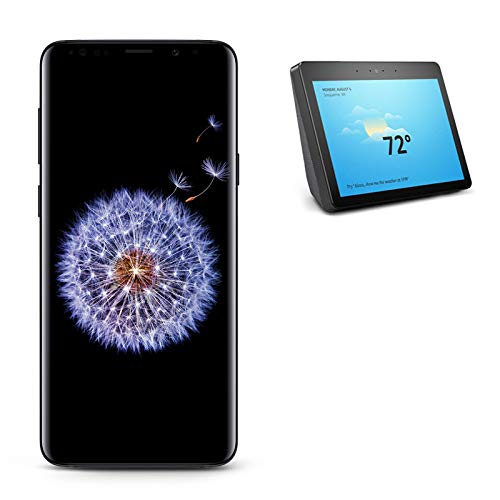 Samsung Galaxy S9+ Unlocked Phone, Midnight Black with All-new Echo Show (2nd Generation)