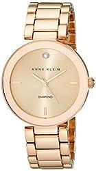 Anne Klein Women's AK/1362RGRG Rose Gold-Tone Diamond-Accented Bracelet Watch 415AV6jv90L._SL250_
