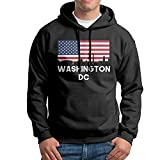 Classic Athletic Men Hoodie Washington DC American Flag Print Fashion Sweatshirts