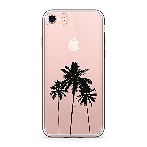 uCOLOR Palm Tree Clear Case for iPhone 6S iPhone 6 Transparent Case for iPhone 8/7 Hybrid TPU Bumple + Hard Back Cover for iPhone 6S/6
