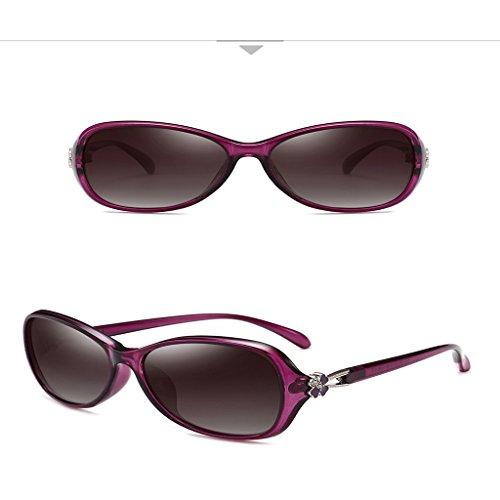 Modelo Y Pequeño Pequeño Rostro Protección Y De Sol De Rostro Gafas Larga LIUXUEPING De UV Elegante Gafas Femenino Pequeño Sol Cara De Marco De Sol De Marco Pequeño Pr UV400 Purple Polarizadas Gafas Femenino XwfPY