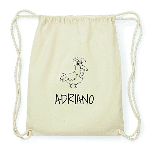 JOllipets ADRIANO Hipster Turnbeutel Tasche Rucksack aus Baumwolle Design: Hahn