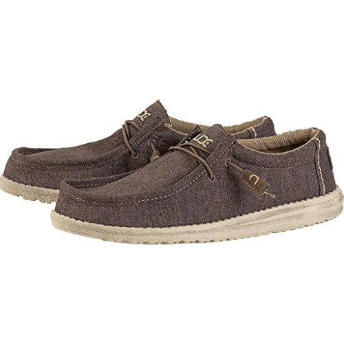 Dude Shoes Men's Wally Linen Chocolate Chocolate