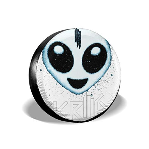 Bizwheo Skrillex Alien Logo Classic Polyester Spare Tire Cover Dust-Proof for All Cars