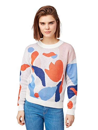 Pattern Denim Tom Manica Donna Abstract Maglione Tailor Lunga RHqRv8