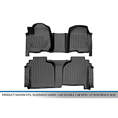 MAX LINER A0401/B0402 for 2020-2020 Silverado / Sierra 1500 Double Cab with 1st Row Bench Seat, Black: Automotive