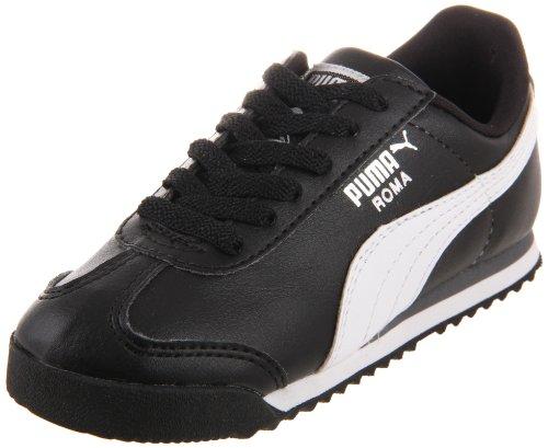 (PUMA Roma Basic Kids Sneaker (Toddler/Little Kid/Big Kid) , Black/White/Puma Silver, 8 M US Toddler)