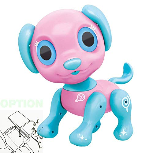 BIRANCO. Electronic Pets Dog Toy - Interactive Puppy Smart Robot Toys for Age 3 4 5 6 7 8 Year Old Girls | Gifts for Kids (Pink Rechargeable)
