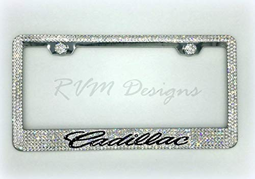 Cadillac License Plate Frame made with Swarovski Crystals - Cadillac Car Jewelry ()