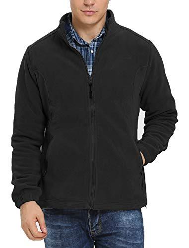 Kerrian Online Fashions 415AX3DQkkL iloveSIA Men's Fleece Jacket Full Front Zip Casual Lightweight Polar Jacket
