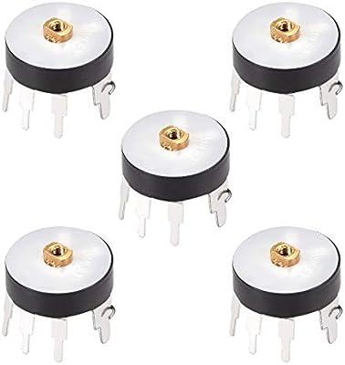 Wheel Potentiometer w Switch B10K Ohm Variable Resistors Single Turn 5pcs