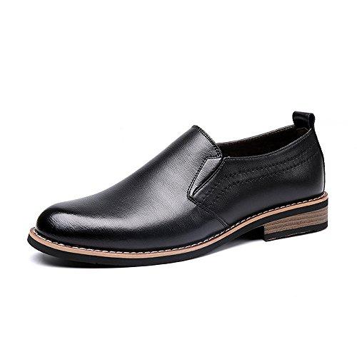 Business Schwarz Go Klassische Slip Herren Shopping Easy Lederschuhe Oberhalb On Oxfords Schuhe zqwO4Pp