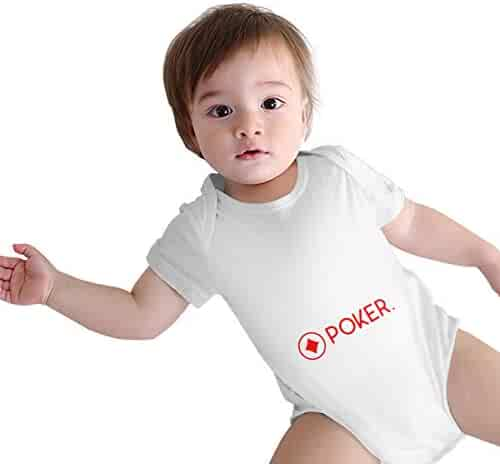 TO-JP Poker Baby Short-Sleeve Onesies Bodysuit Baby Outfits