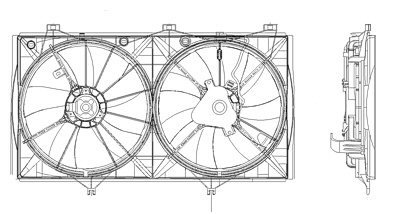 MAPM Premium Quality RADIATOR FAN SHROUD FOR MODELS WITH 2.4L L4; NORTH AMERICA AND JAPN