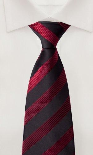 Cravate de Fabio Farini en rouge noir