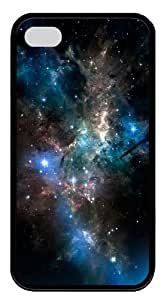 sparkly cases space sparkling stars TPU Black Case for iphone 4/4S