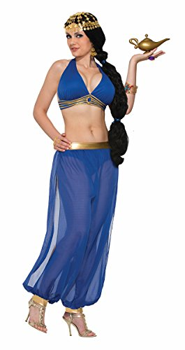 Harem Dancer Adult Women Costumes (Forum Novelties Belly Dancer Harem Top Adult Costume (Blue)-Standard)