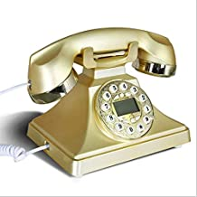 Old School Retro Design Corded Landline Phone - Gold Telephone